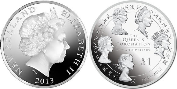 New Zealand Queen's Coronation Coin