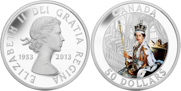 Queen's Coronation 5 Ounce Silver Coin