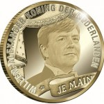 Gold and Silver Coins Issued for Investiture of King Willem-Alexander
