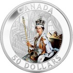 Royal Canadian Mint 2013 Queen's Coronation 5 Ounce Silver Coin