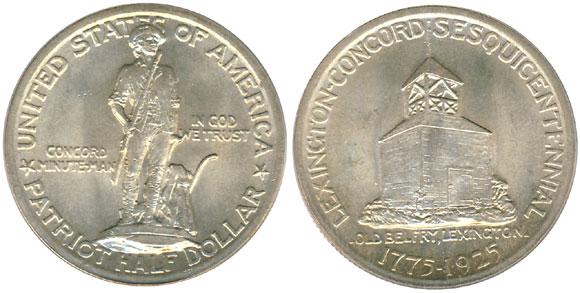 1925 Lexington Concord Half Dollar