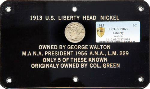 Walton Specimen 1913 Liberty Nickel