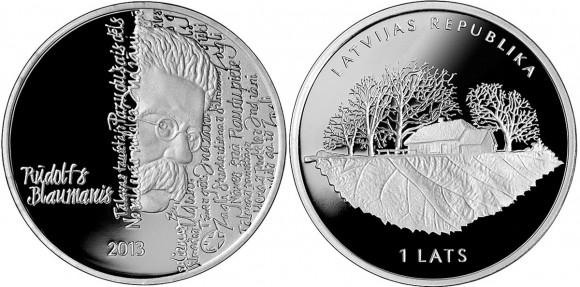 Rūdolfs Blaumanis Silver Coin