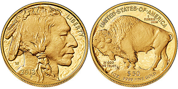 2013 Proof Gold Buffalo