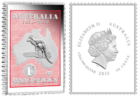 Kangaroo and Map Stamp Coin