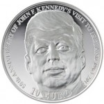 Gold and Silver Coins Remember John F. Kennedy's Presidential Visit To Ireland
