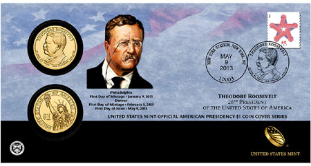 Theodore Roosevelt Coin Cover