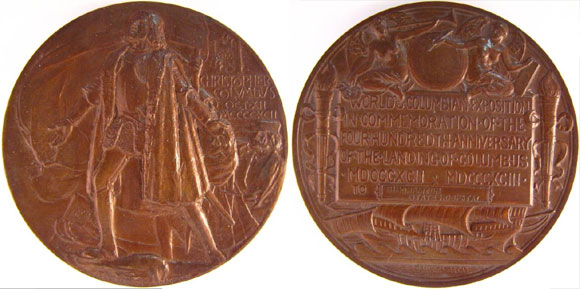 Christopher Columbus Commemorative Medal. Image by SI.