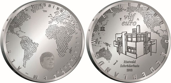 Rietveld Schroderhuis Silver Coin