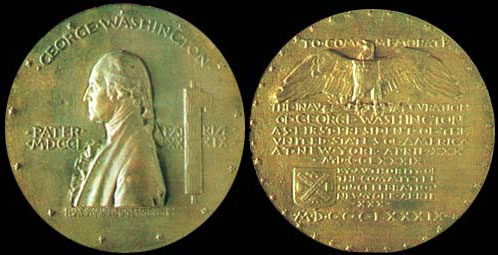 George Washington Inaugural Centennial Medal.