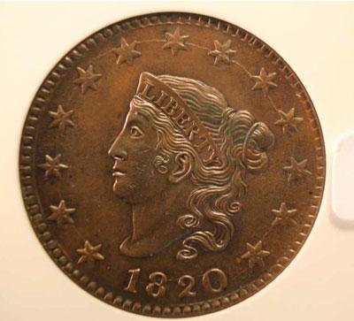 1829 large cent