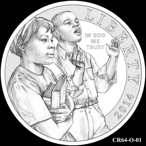 2014 Civil Rights Act of 1964 Silver Dollar Designs Reviewed by CCAC