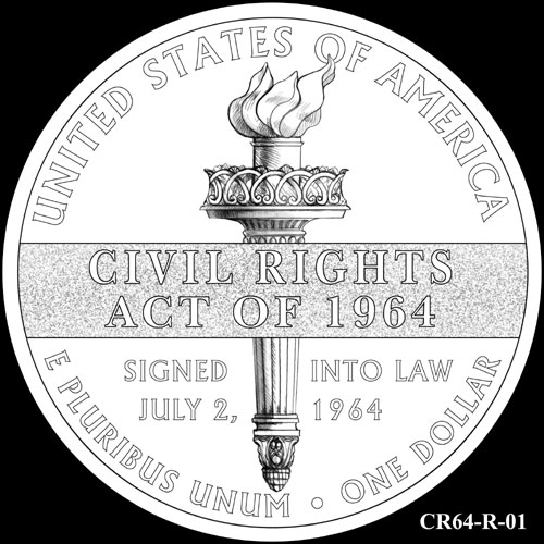 CFA Reviews Designs for 2014 Civil Rights Act of 1964 Commemorative