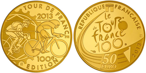 Tour de France Gold Coin