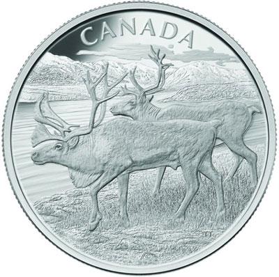 Caribou Silver Kilo Coin