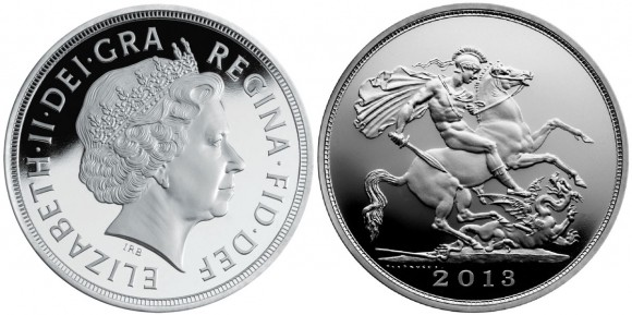 George and the Dragon Silver Coin