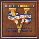 World War II 50th Anniversary Commemorative Coin and Victory Medal Set