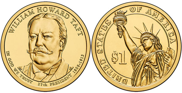 William Howard Taft Presidential Dollar