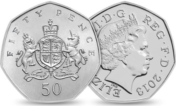 2013 Fifty Pence