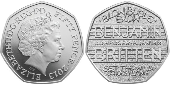 Benjamin Britten Honored On New Uk 50 Pence Coin Coin Update