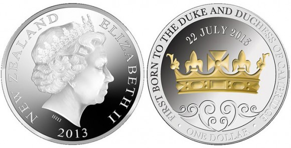 New Zealand Prince George Coin