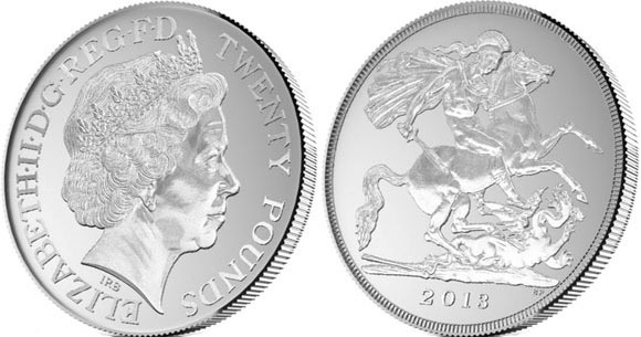 £20 for £20 Silver Coin