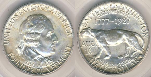 1927 Vermont Half Dollar