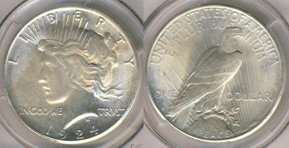 1924-S Peace Dollar