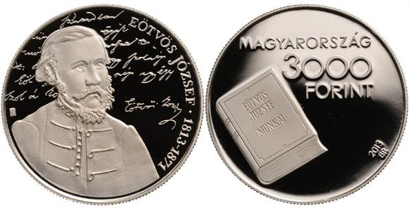 József Eötvös Silver Coin