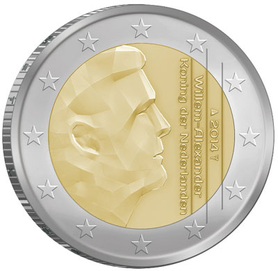 2014 Netherlands 2 Euro Coin