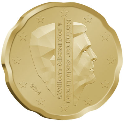 2014 Netherlands 20 Cent Coin