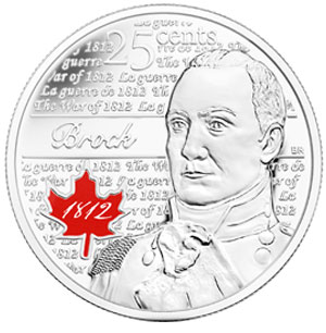 Isaac Brock 25 Cent Coin