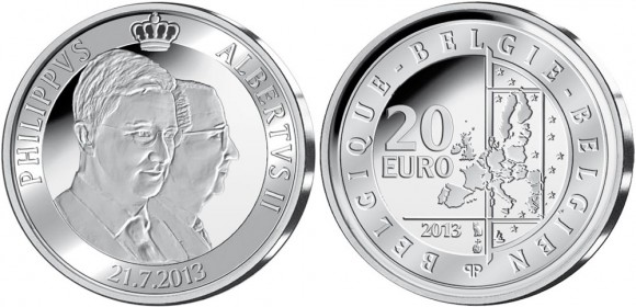 Belgium King Philippe Silver Coin