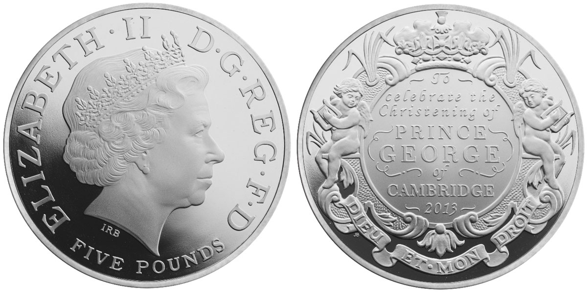 Royal Mint Launches Christening Coins For Baby Prince