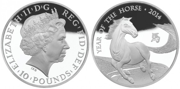 UK 2014 Year of the Horse Silver Coin