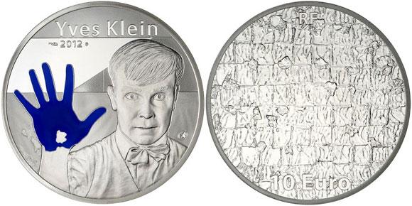 2012 Yves Klein Silver Coin