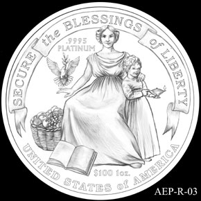 2014 American Eagle Platinum Coin Designs