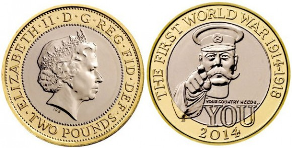 UK 2014 First World War Two Pounds