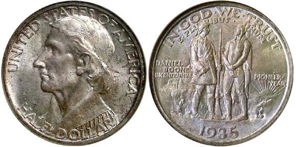 Daniel Boone Half Dollar