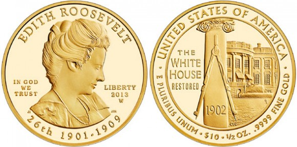 Edith Roosevelt Gold Coin
