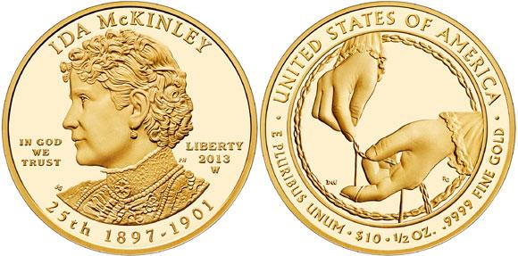 2013 Ida McKinley Gold Coin