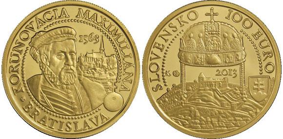 Slovakia Maximilian II Gold Coin