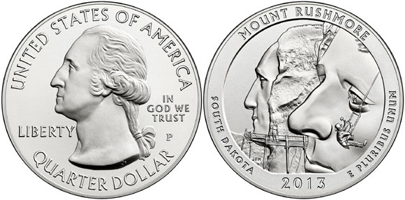 Mount Rushmore Silver Coin