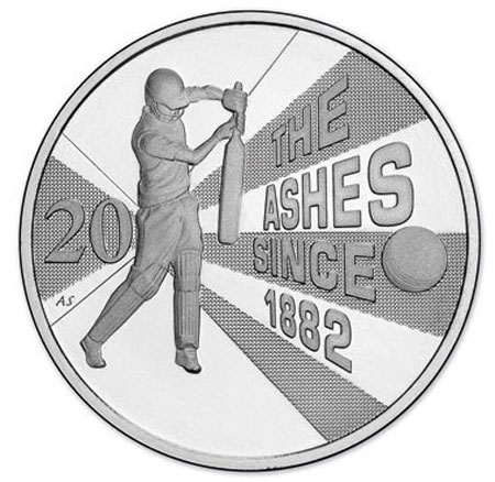 Australia The Ashes Cricket Coin