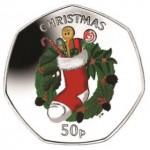 2013 Isle of Man 50 Pence Christmas Coins