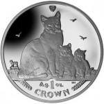 "Isle of Man ""Cat"" Crown Features Snowshoe Cat"