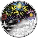 2014 Sydney New Year's Eve Fireworks Holographic Coin Secret Bridge Effect Revealed