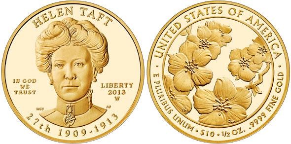 2013 Helen Taft Gold Coin