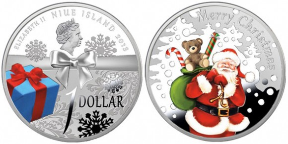 niue christmas coin