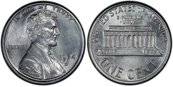 1974-D Aluminum Cent